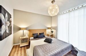 Architekturfoto eines Schlafzimmers, Interieurfotografie.