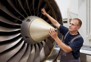 Produktion von Triebwerken für die Luftfahrt.
