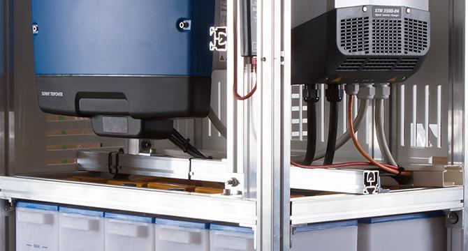 Dieses Produktfoto zeigt den Prototyp eines Energiespeichers