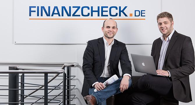 Porträtfoto der Geschäftsführer des Unternehmens Finanzcheck.de