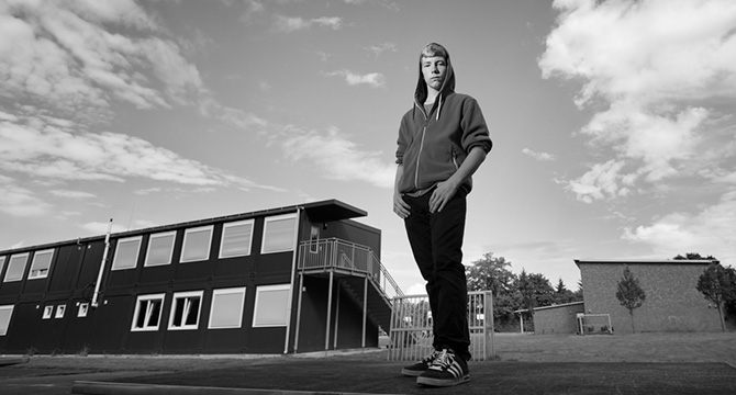 Schulprojekt Porträtfotografie an einer Hamburger Gesamtschule.