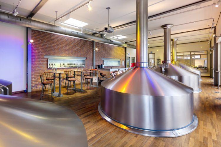Brauhaus einer Bier-Brauerei.