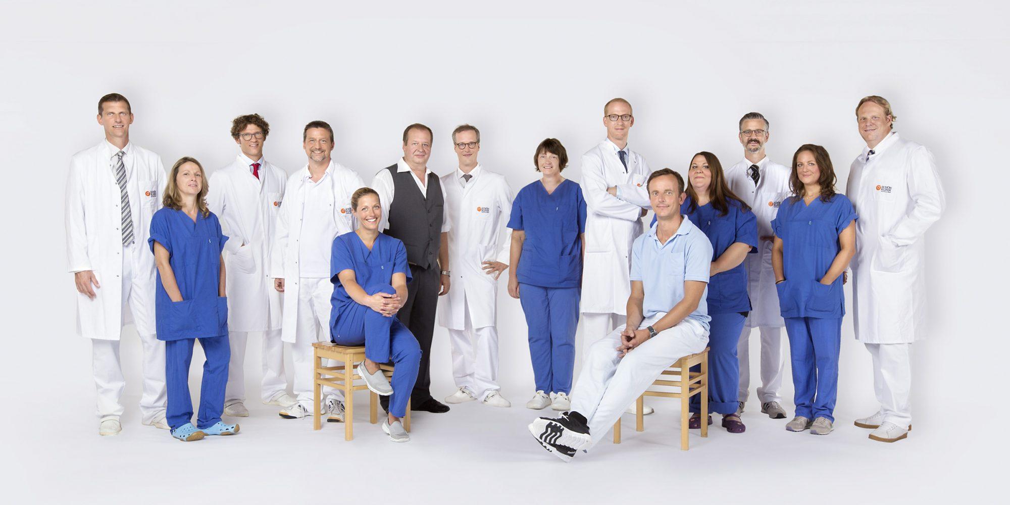 Dieses Medizinfoto zeigt Mitarbeiter einer Hamburger Klinik.