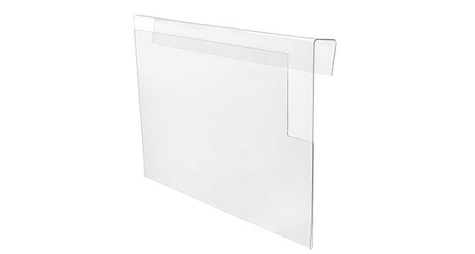 Produktfoto: Transparentes Objekt aus Kunststoff vor weißem Hintergrund.