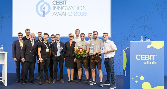 Dieses Eventfoto zeigt eine Veranstaltung während der CeBit 2018 in der Messe Hamburg.