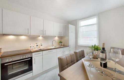 Architekturfoto einer Küche, Interieurfotografie.