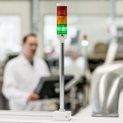 Fertigungslinie für Leiterplatten in der Elektroindustrie.