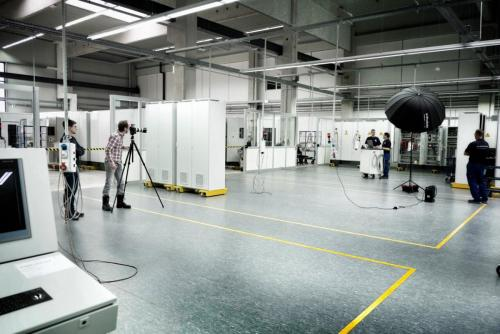 Industriefotograf Bernhard Classen während eines Fotoshootings in Nordrhein-Westfalen.