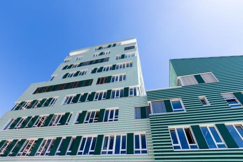 Moderne Architektur in Hamburg Wilhelmsburg.