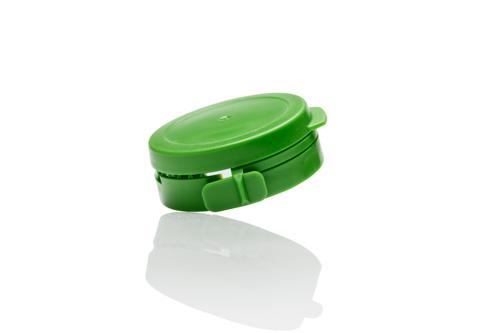 Produktfoto für einen online-Shop: grüner Deckel aus Kunststoff
