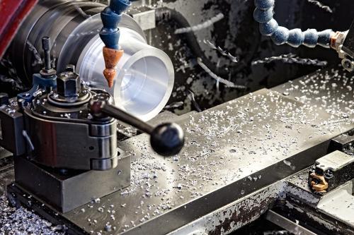 Detail einer Fräsmaschine.